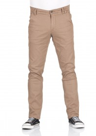 Shine Original Herren Stretch Chino Hose - Straight Fit - Beige - Dark Sand