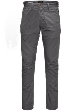 Jack & Jones Herren Hose JJISTAN JJISAC AKM 249 - Anti Fit - Grau - Charcoal Gray