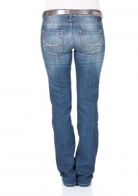 Tom Tailor Damen Jeans Straight Alexa - Straight Fit - Blau - Stone Blue Denim