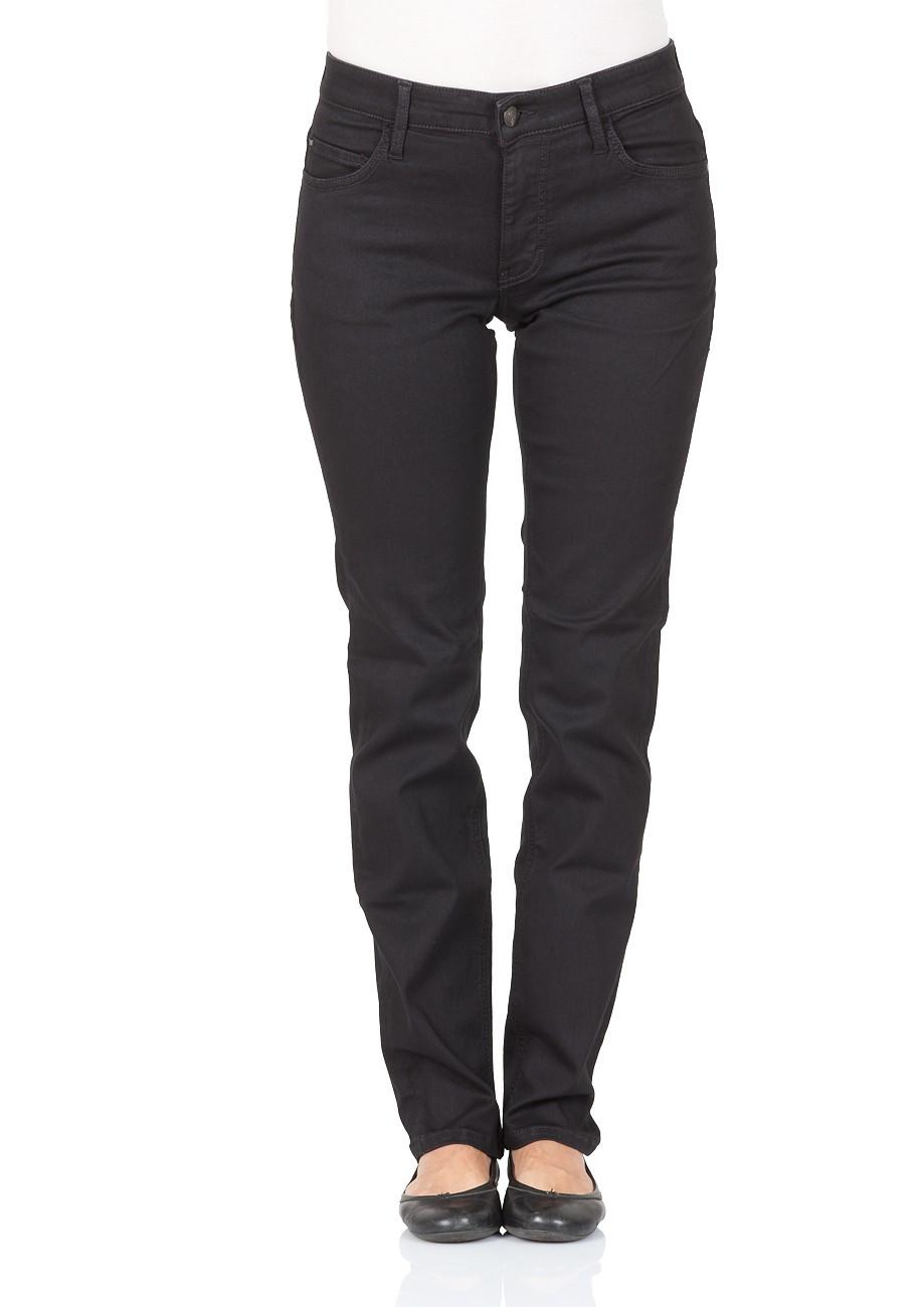 mustang damen jeans sissy slim fit straight leg schwarz dark vintage wash ebay. Black Bedroom Furniture Sets. Home Design Ideas
