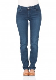 Mustang Women s Jeans Sissy Slim Fit - Straight Leg - Blue - Stone ... f685039846