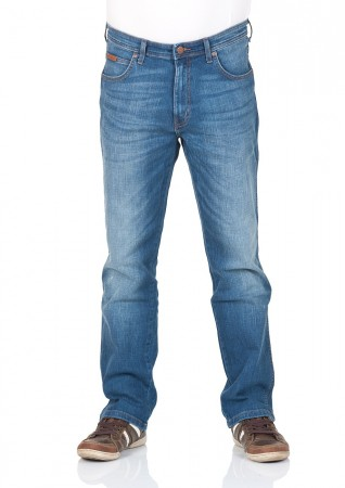 Wrangler Herren Jeans Arizona Stretch Regular Fit - Blau - Blue Brick