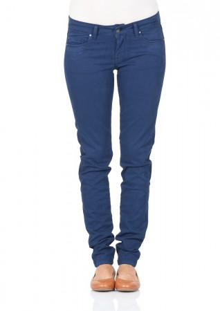 Pepe Jeans London Damen Hose Soho - Skinny Fit - Blau - Stretch Colour