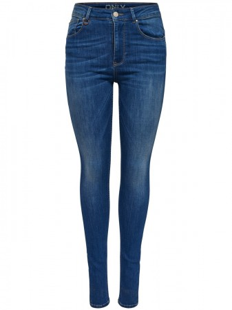 Only Damen Jeans onlPIPER HW. SK JEANS REA3072 - Skinny Fit - Blau - Medium Blue Denim