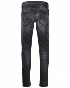 Jack & Jones Herren Jeans JJIGLENN JJFOX BL 655 50SPS - Slim Fit - Schwarz - Black Denim