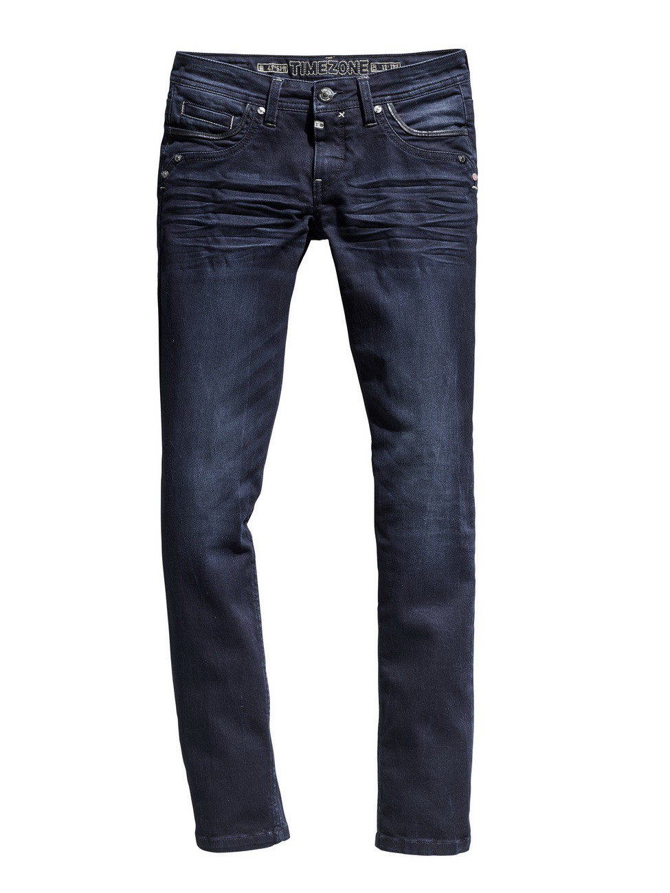 Timezone Damen Jeans TahilaTZ - Slim Fit - Blau - Noble Blue Wash