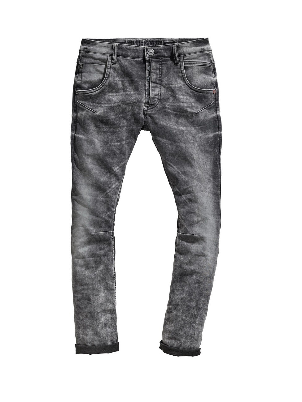 Timezone Damen Jeans RivaTZ - Slim Fit  - Grau - Smut Black Wash