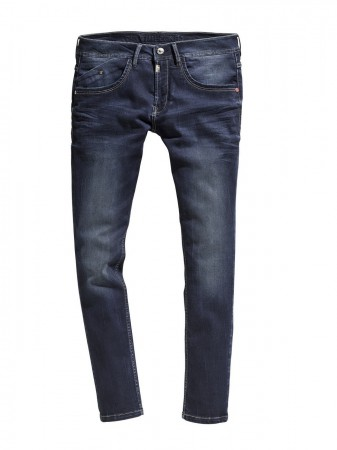 Timezone Herren Jeans CostelloTZ - Tight Fit - Blau - Ink Shadow Wash