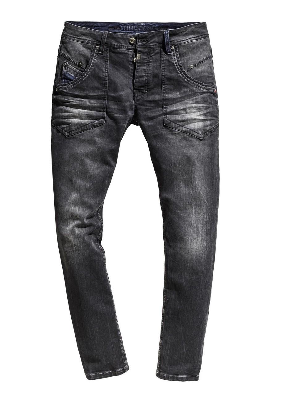 timezone herren jeans claymoretz comfort fit schwarz. Black Bedroom Furniture Sets. Home Design Ideas