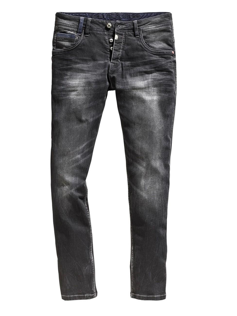 timezone herren jeans gerrittz regular fit schwarz pirate wash ebay. Black Bedroom Furniture Sets. Home Design Ideas