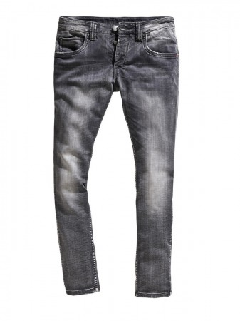 Timezone Herren Jeans EdoTZ - Slim Fit - Grey - Steel Grey Wash