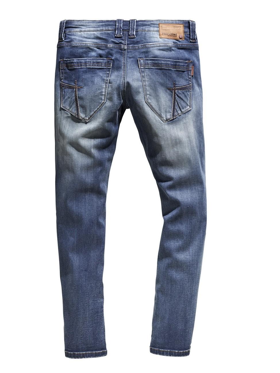 timezone herren jeans eduardotz zip slim fit blau. Black Bedroom Furniture Sets. Home Design Ideas