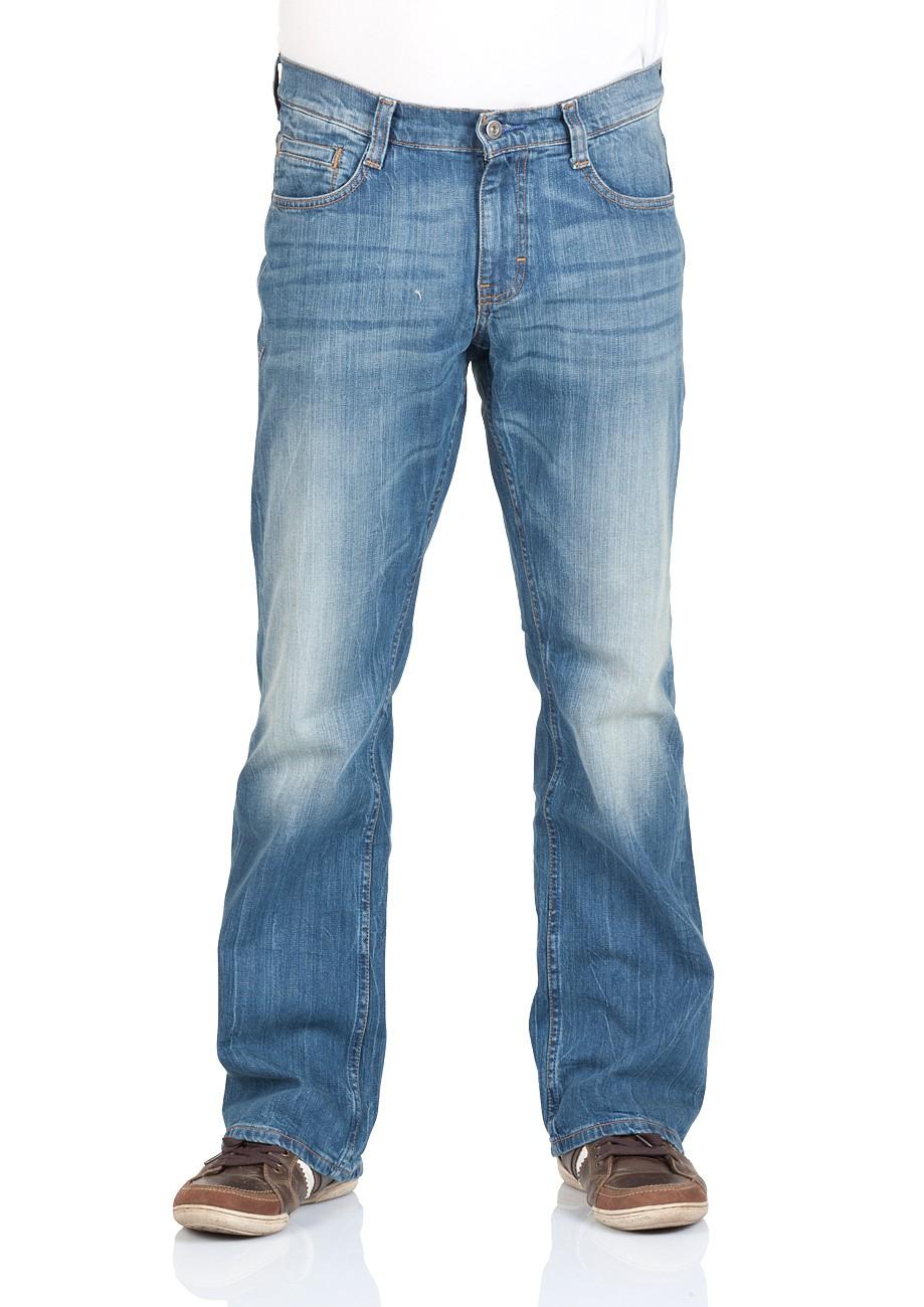 Mustang Herren Jeans Oregon - Bootcut - Blau - Strong Bleach W 31 L 32, Strong Bleach (535)
