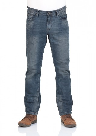 Tom Tailor Denim Herren Jeans Aedan Slim Fit - Blau - Washed Coated Blue Denim