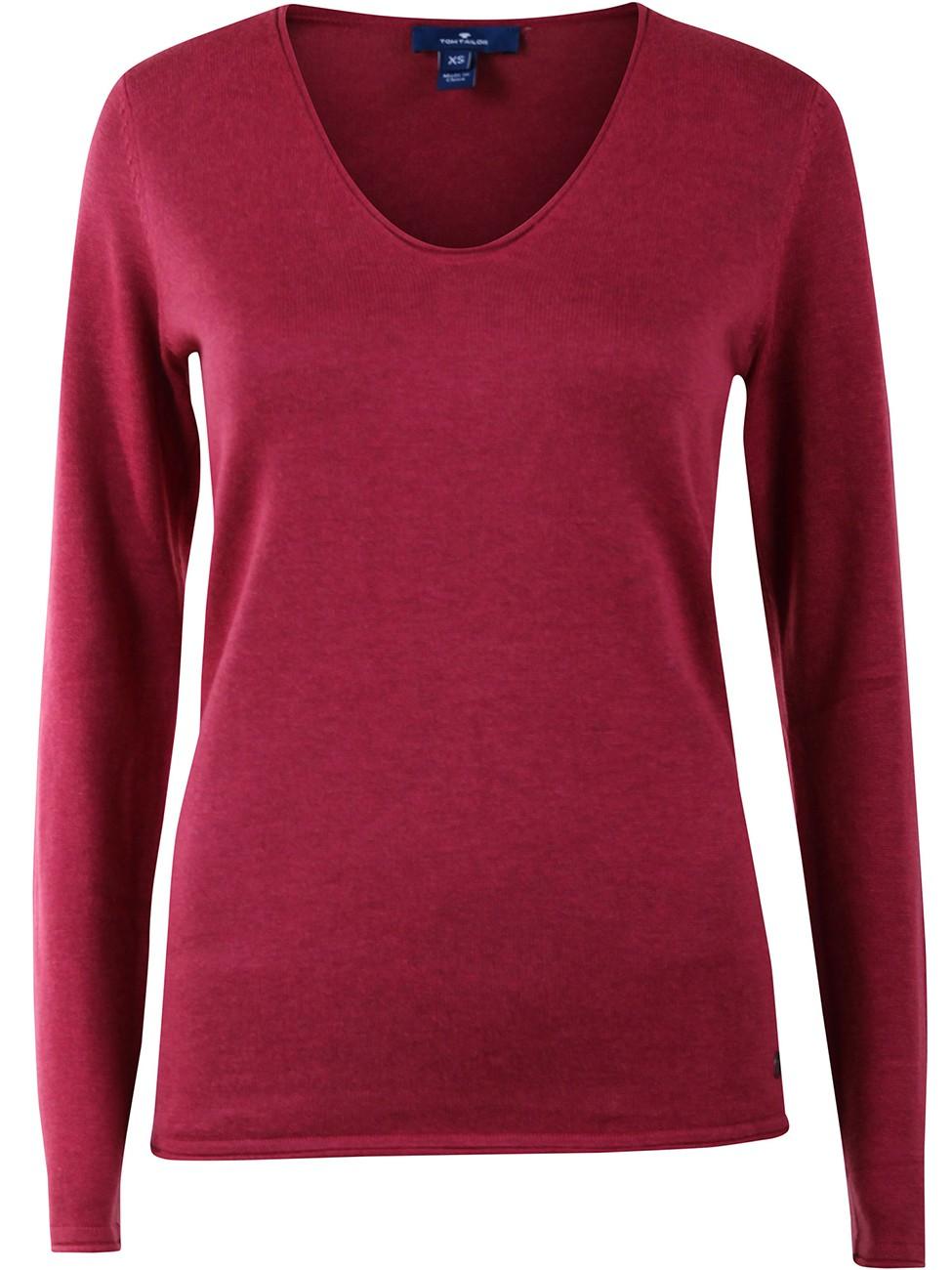 Tom Tailor Damen Pullover Basic V-Neck