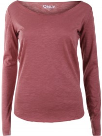 Only Damen Top onlBONE LS O-NECK