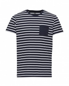 Jack & Jones Herren Rundhals T-Shirt JCOTABLE TEE SS STRIPE