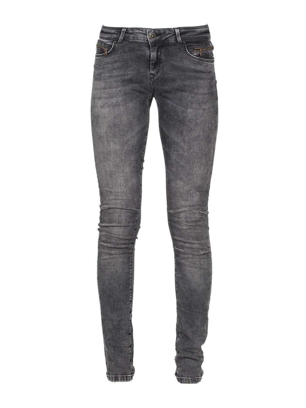 MOD Damen Jeans Eva - Slim Fit - Grau - Middle Grey ...