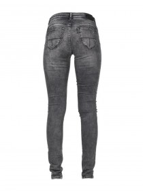 M.O.D. Damen Jeans Eva - Slim Fit - Grau - Middle Grey