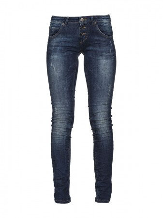 M.O.D. Damen Jeans Ulla - Slim Fit - Blau - Strong Blue
