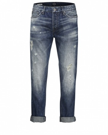 Jack & Jones Herren Jeans JJIERIK JJTHOMAS AKM 970 - Antifit - Blau - Blue Denim