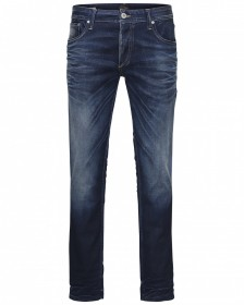 Jack & Jones Herren Jeans JJITIM JJORIGINAL JOS 819 Slim Fit - Blau - Blue Denim