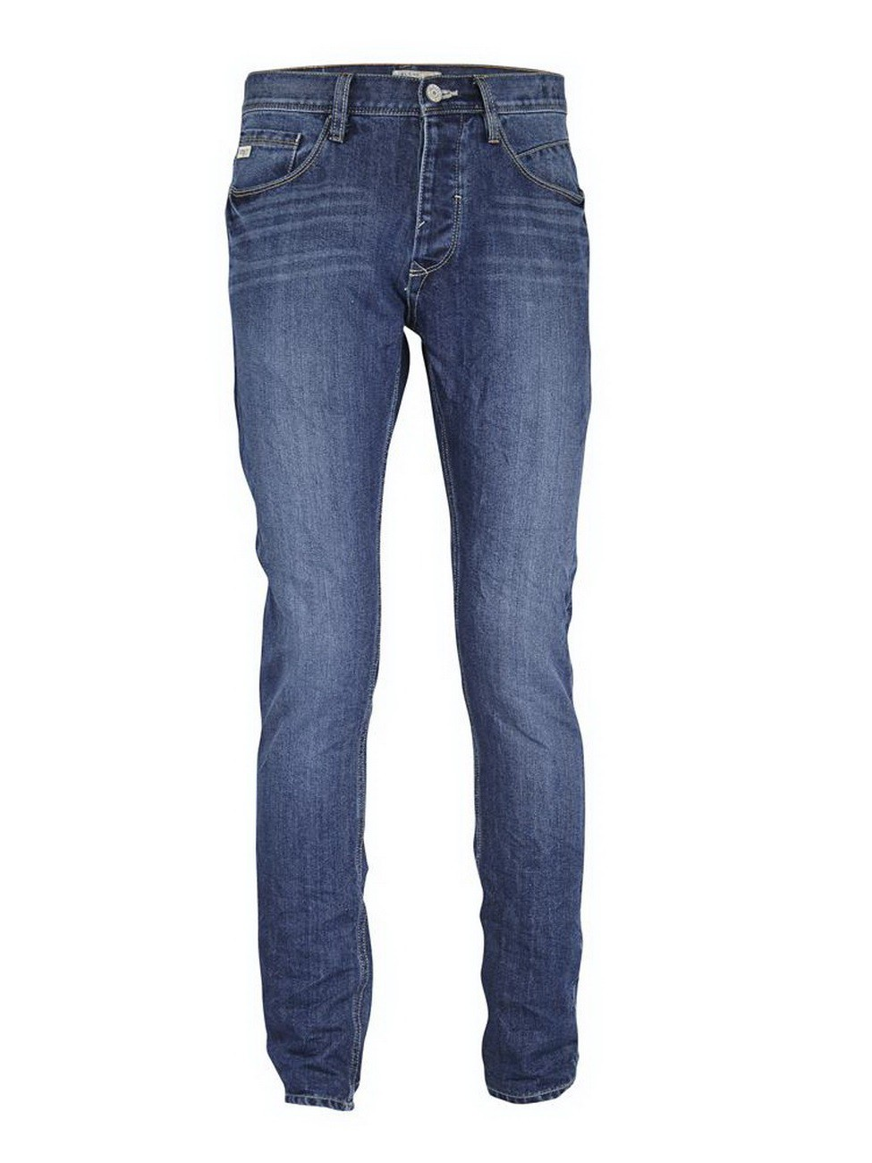 Blend Herren Jeans Twister - Slim Fit - Blau - Middle Blue - Baumwollmischung