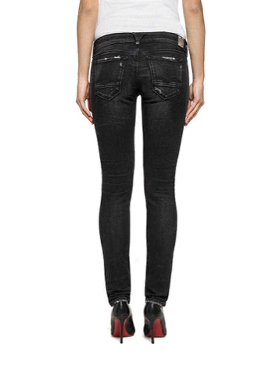 replay damen jeans brigidot destroyed skinny fit. Black Bedroom Furniture Sets. Home Design Ideas