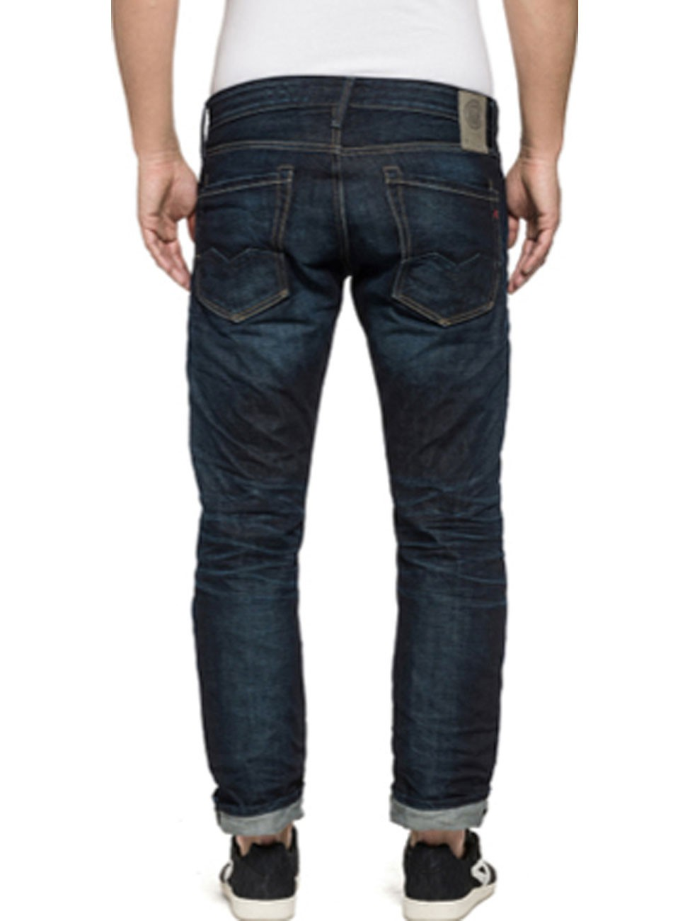 Replay Herren Jeans Waitom Regular Fit - Slim Leg - Blau - Green Cast Denim