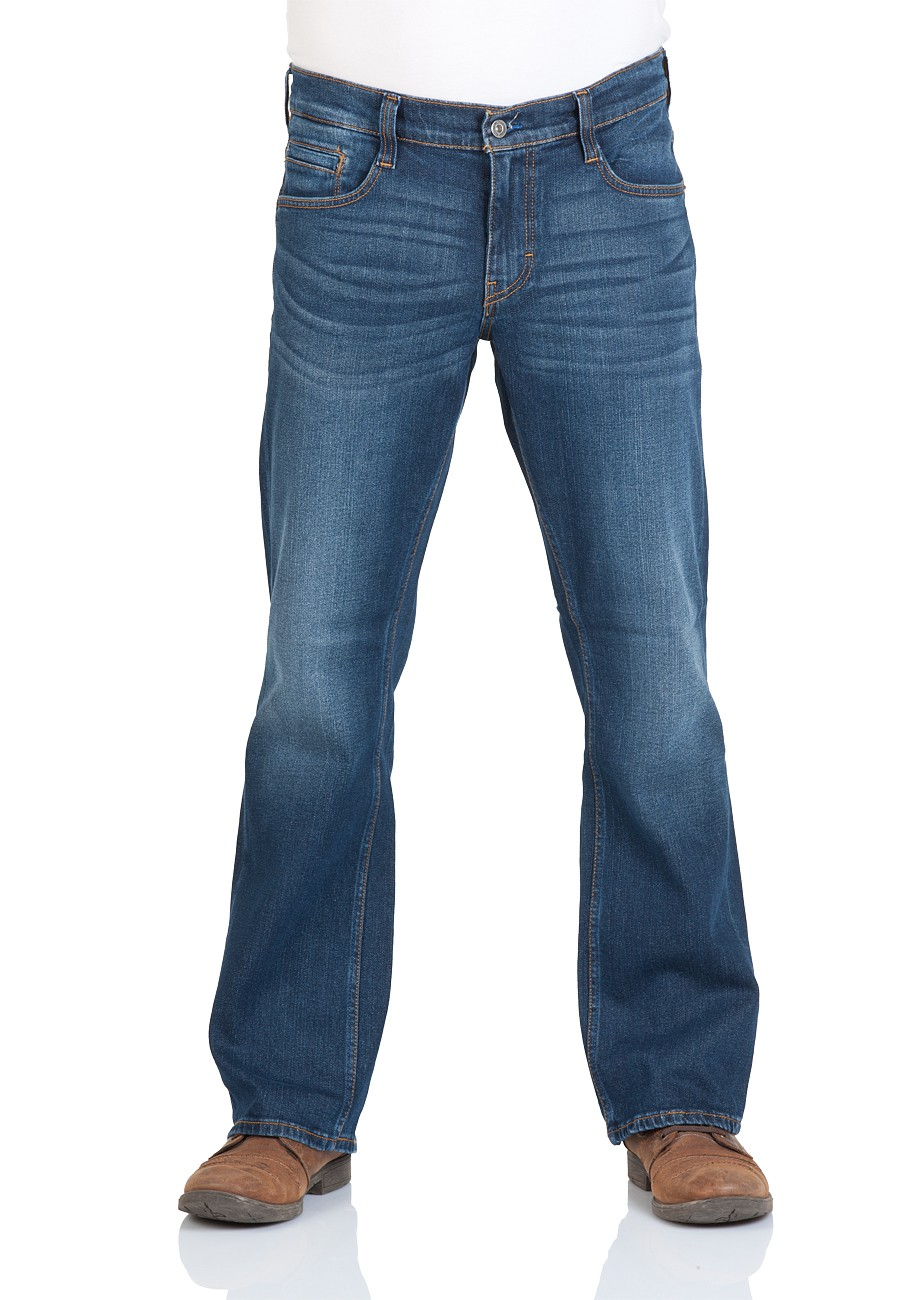 mustang herren jeans oregon bootcut blau rinse wash. Black Bedroom Furniture Sets. Home Design Ideas