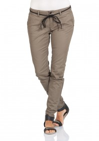 Only Damen Chino Hose onlGARLAND CHINO BELT - Tapered Fit - Beige - Tarmac