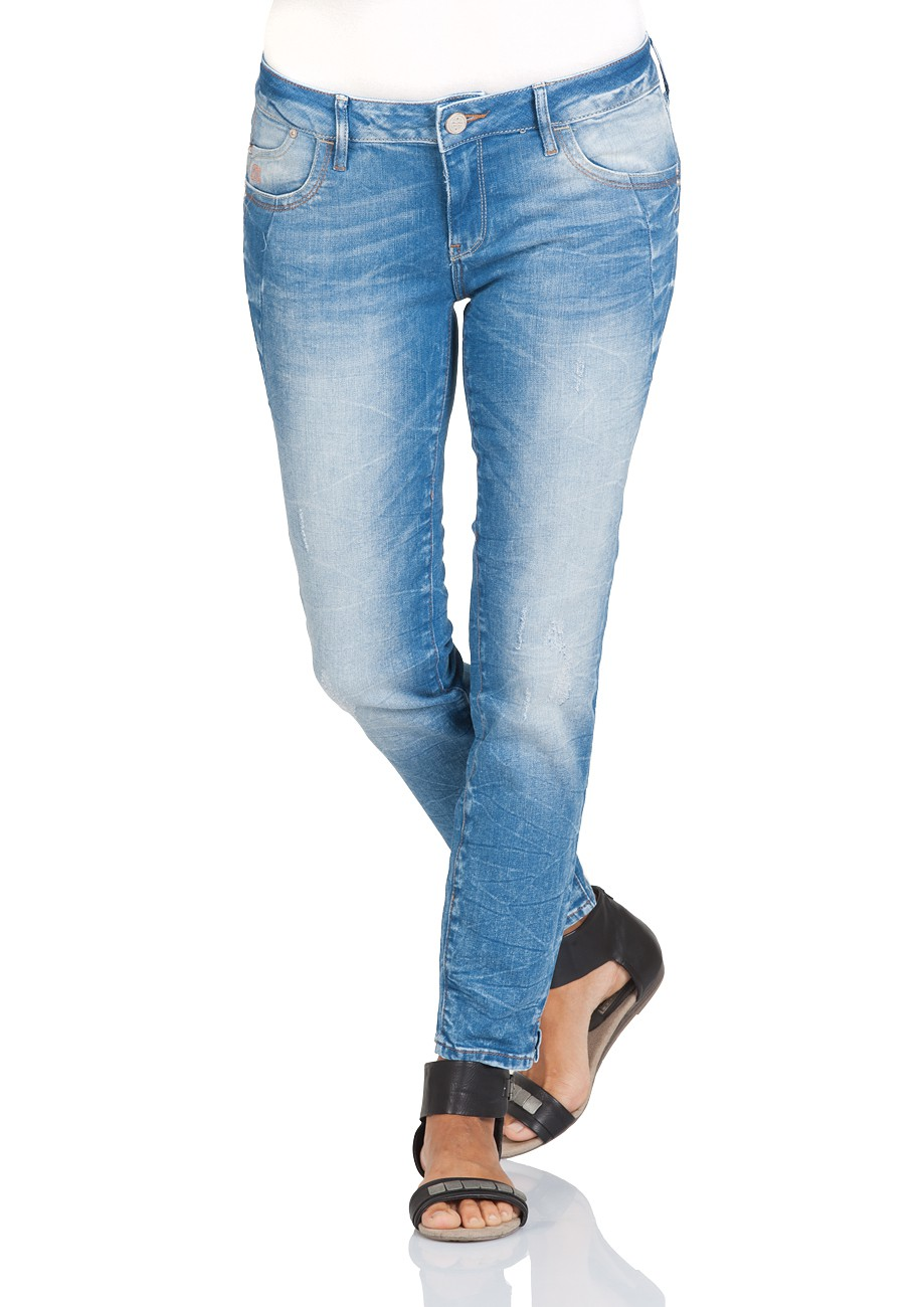 Mavi damen jeans adriana ankle superskinny fit blau for Blue barcelona