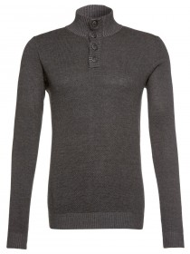 Tom Tailor Herren Strickpullover Modern Platted Troyer
