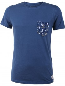 Tom Tailor Denim Herren T-Shirt Solid Tee with Print Pocket