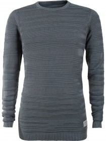 Tom Tailor Denim Herren Sweater Structured Crew Neck - Light Spruce Green