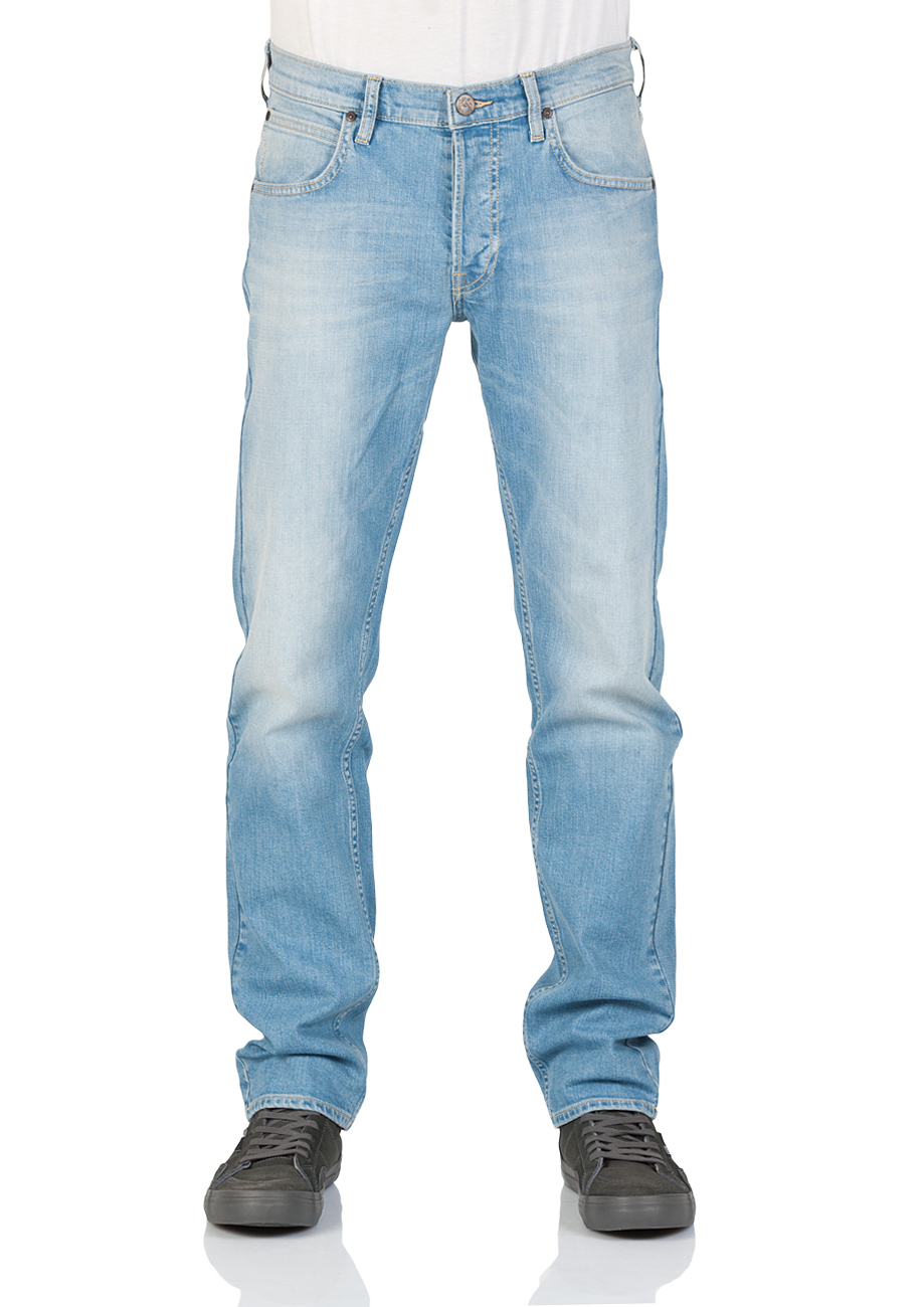 Lee Herren Jeans Daren Regular Slim - Blau - Quiet Hour - Wave Signal - Blue