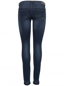 Only Damen Jeans onlCORAL SL SK DNM JEANS BJ8076 - Skinny Fit - Blau - Dark Blue Denim
