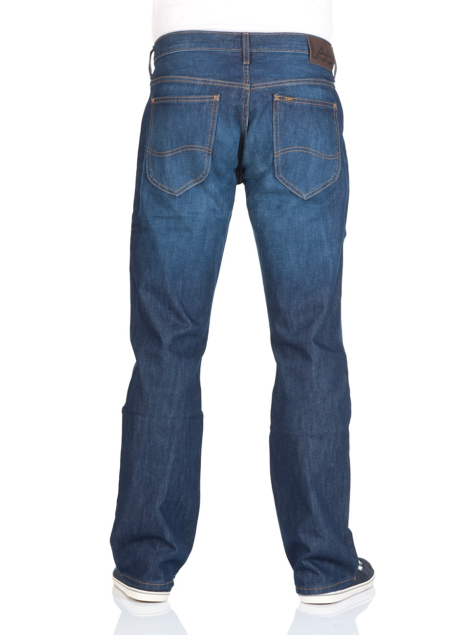 Lee Herren Jeans Knox Regular Straight - Blau - Clean Splash - Faint Shadow - Black Rinse