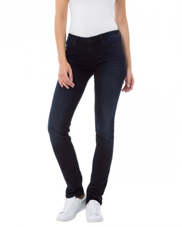 Cross Damen Jeans Elsa - Skinny Straight - Blau - Blue Black
