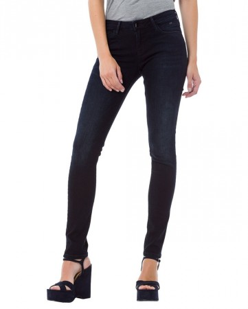 Cross Damen Jeans Adriana - Super Skinny Fit - Blau - Blue Black
