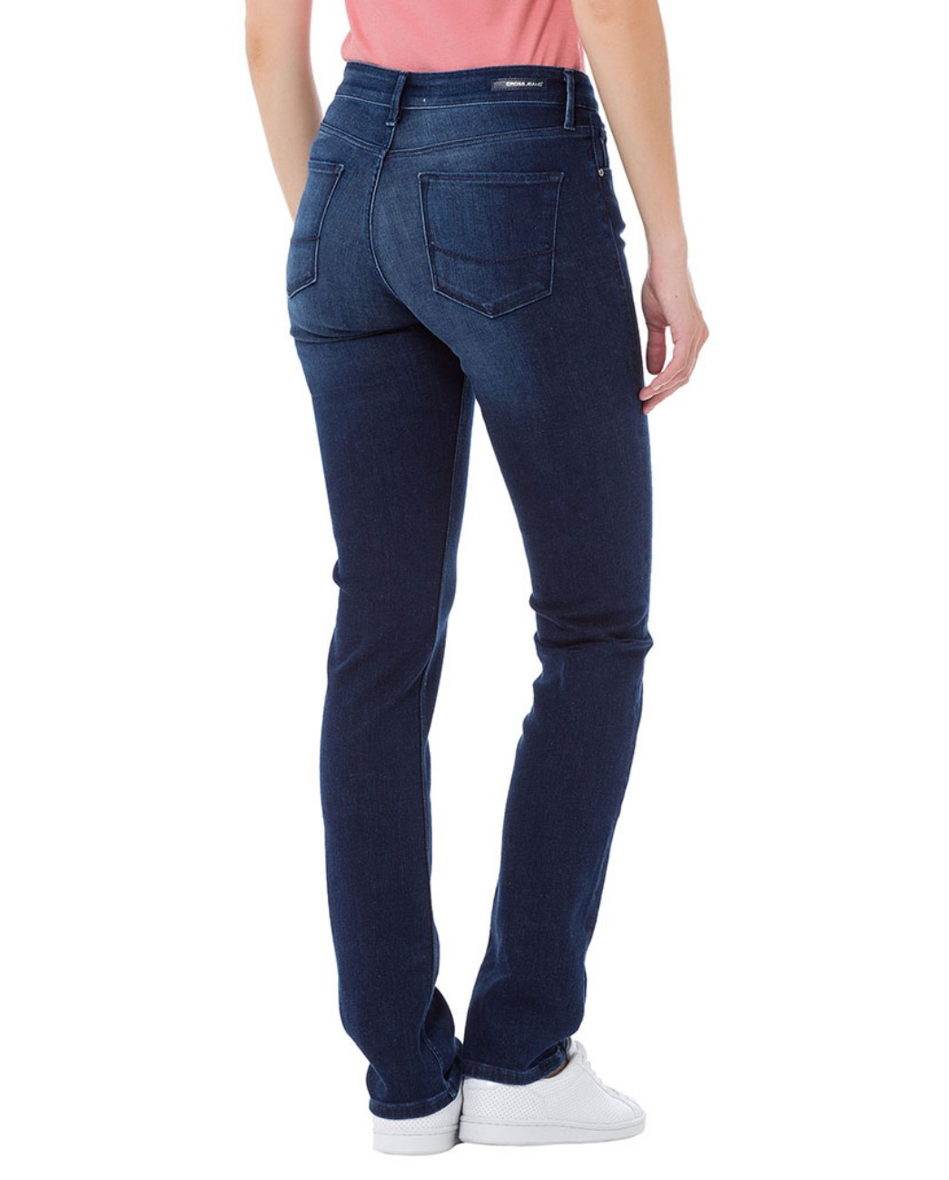 Cross Damen Jeans Anya - Slim Fit - Blau - Dark Mid Blue