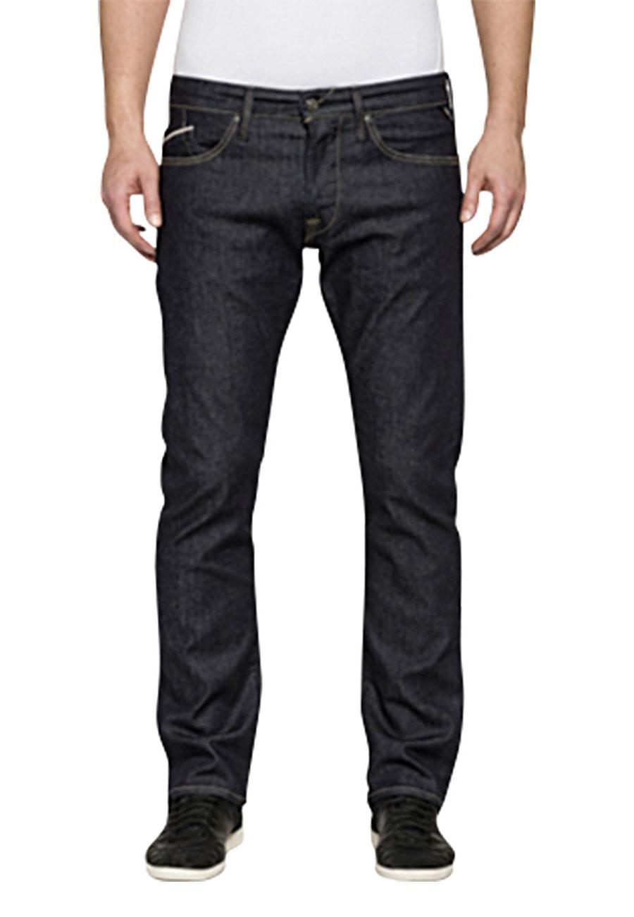 replay herren jeans waitom regular fit slim leg blau dark indigo kaufen jeans direct de. Black Bedroom Furniture Sets. Home Design Ideas