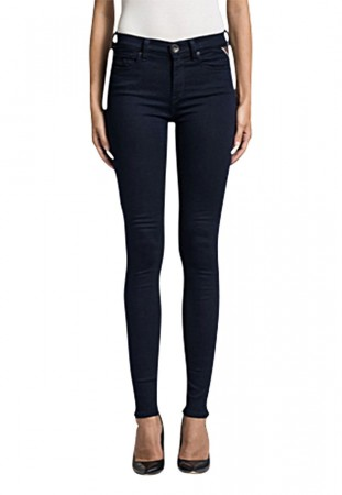 Replay Damen Jeggings Joi - Skinny Fit - Blau - Blue Denim