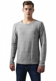 Urban Classics Herren Sweater Fine Knit Melange Cotton