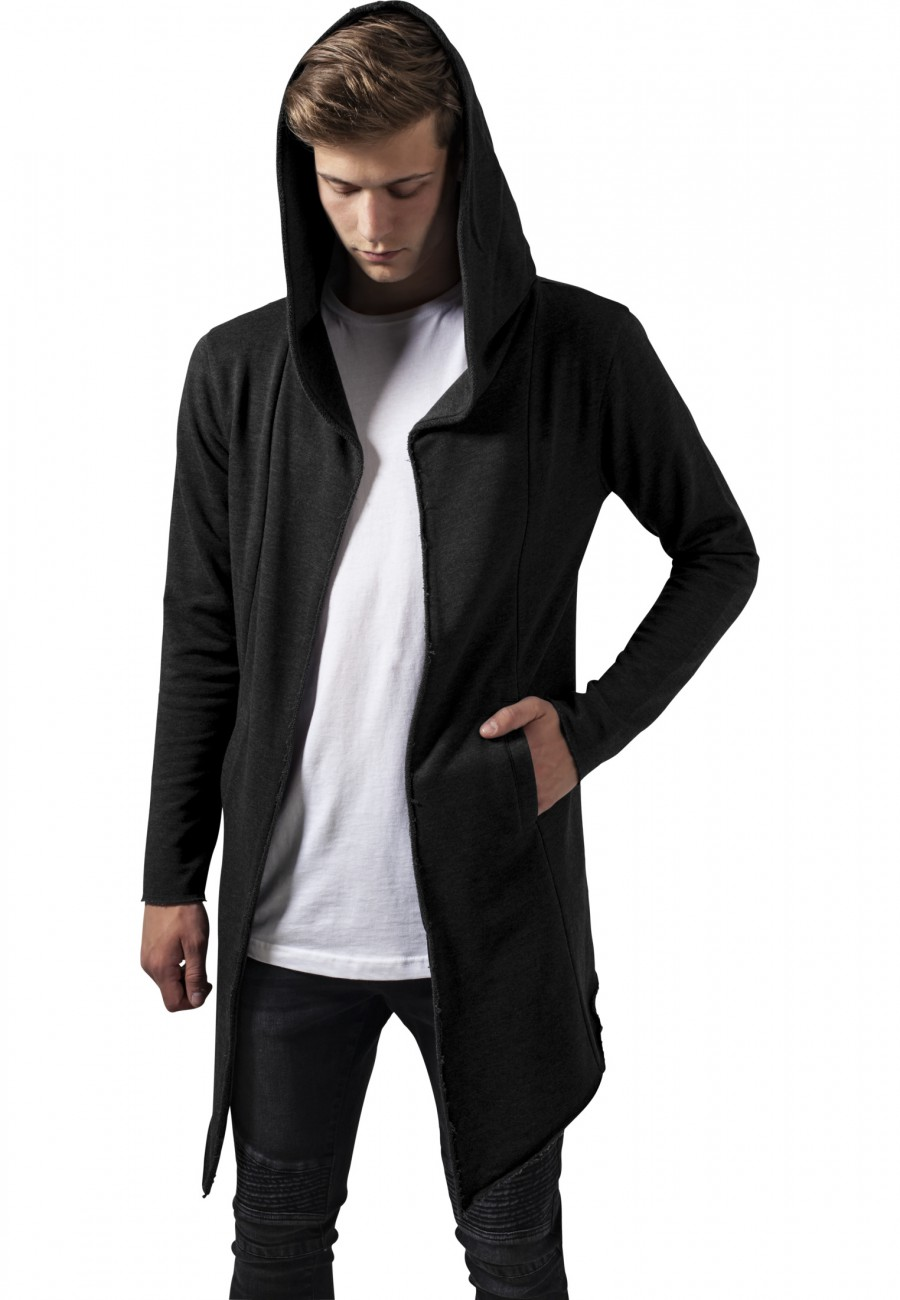 Urban Classics Herren Strickjacke Long Hooded Open Edge Cardigan