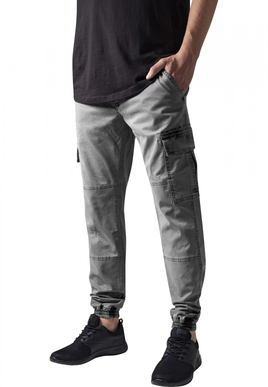 Urban Classics Herren Sweatpants Washed Cargo Twill Jogging Pants