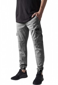Bild 2 - Urban Classics Herren Sweatpants Washed Cargo Twill Jogging Pants