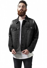 Urban Classics Herren Jeansjacke Ripped Denim Jacket