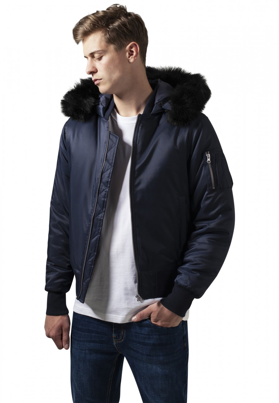 Urban Classics Herren Jacke Hooded Basic Bomber Jacket