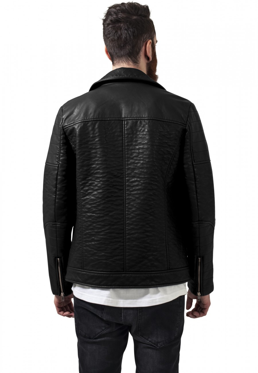 Urban Classics Herren Jacke Leather Imitation Biker Jacket